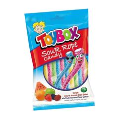 TOYBOX SOUR ROPE CANDY 80 QR